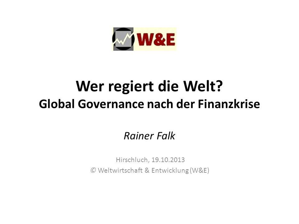 Wer regiert die Welt Global Governance nach der Finanzkrise