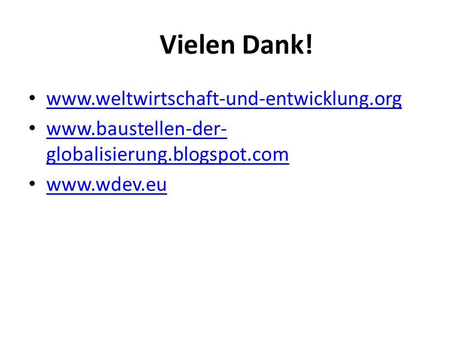 Vielen Dank! www.weltwirtschaft-und-entwicklung.org