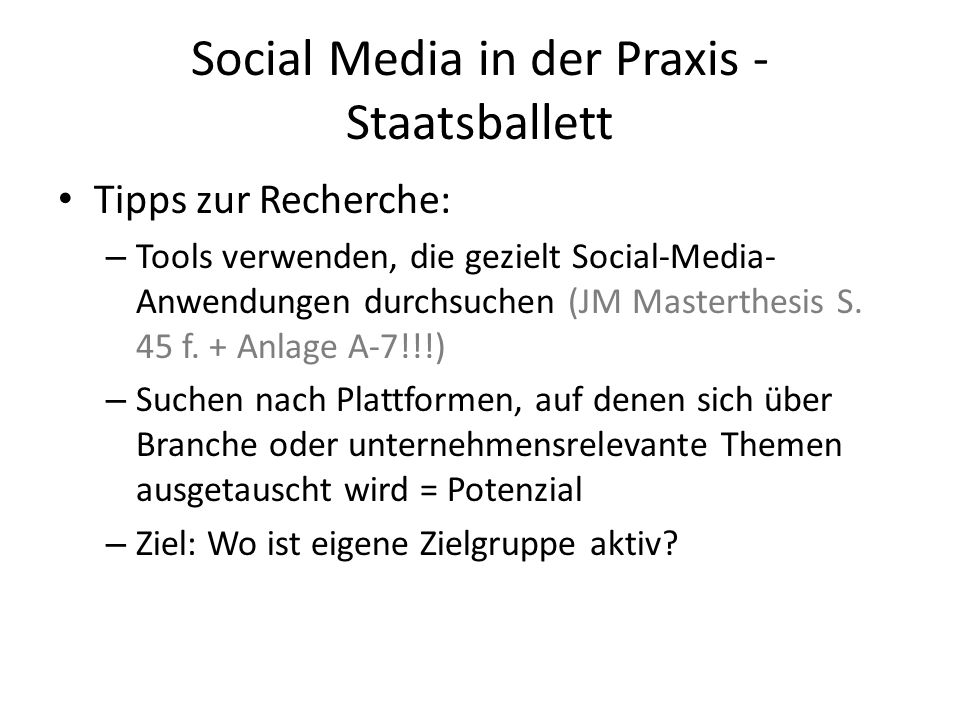 Social Media in der Praxis - Staatsballett
