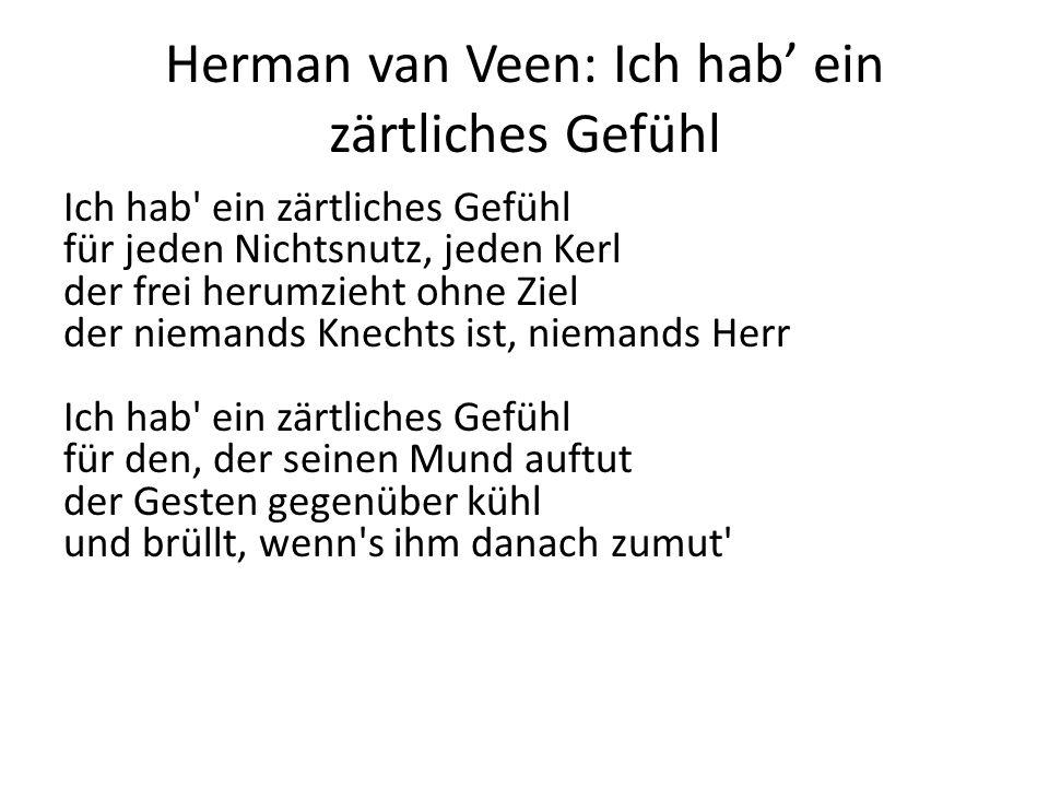 Herman van Veen: Ich hab' ein zärtliches Gefühl