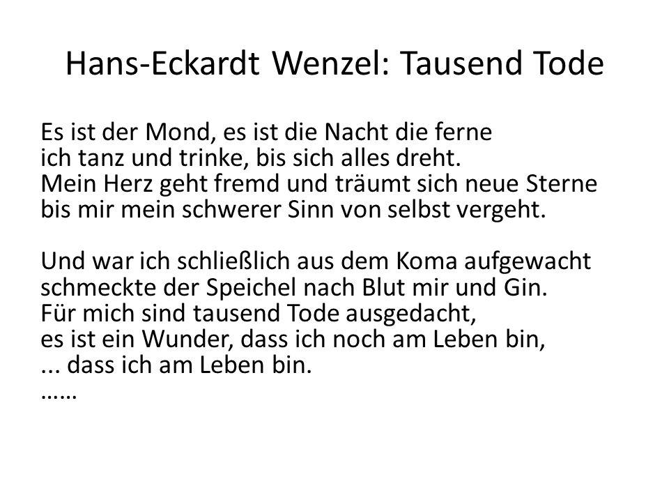 Hans-Eckardt Wenzel: Tausend Tode