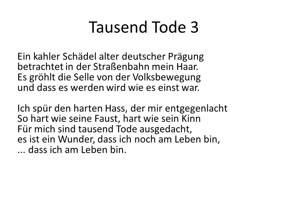 Tausend Tode 3