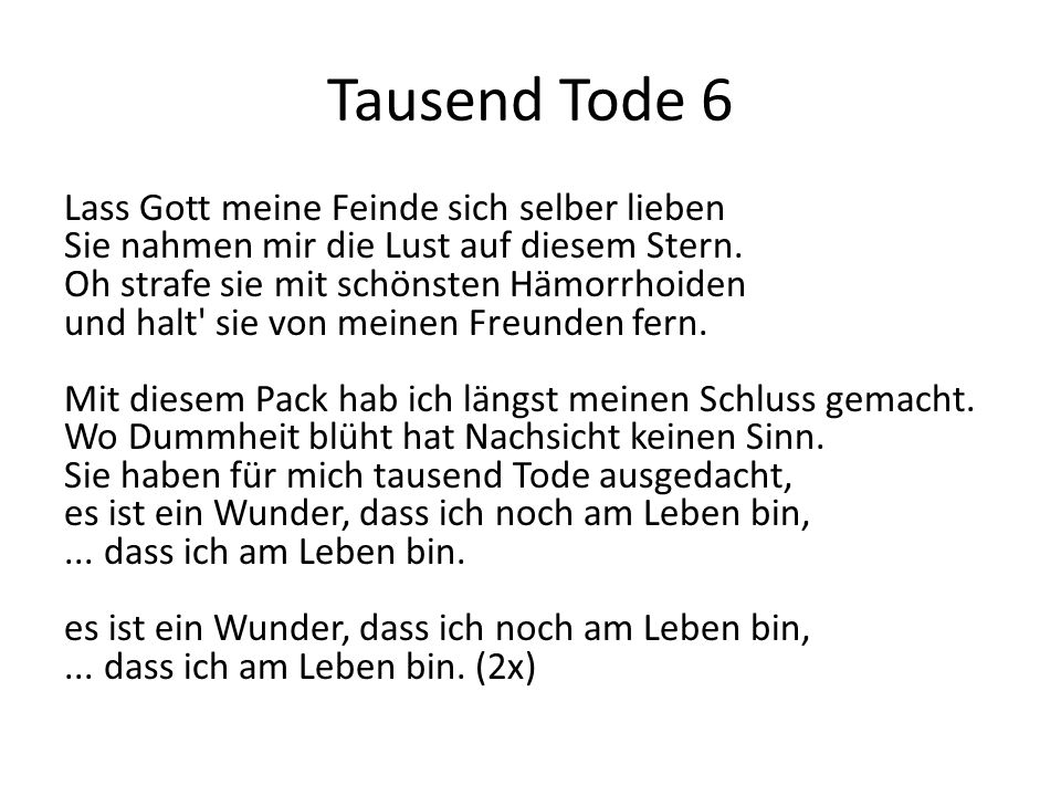 Tausend Tode 6