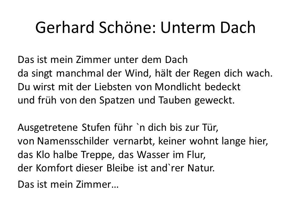 Gerhard Schöne: Unterm Dach