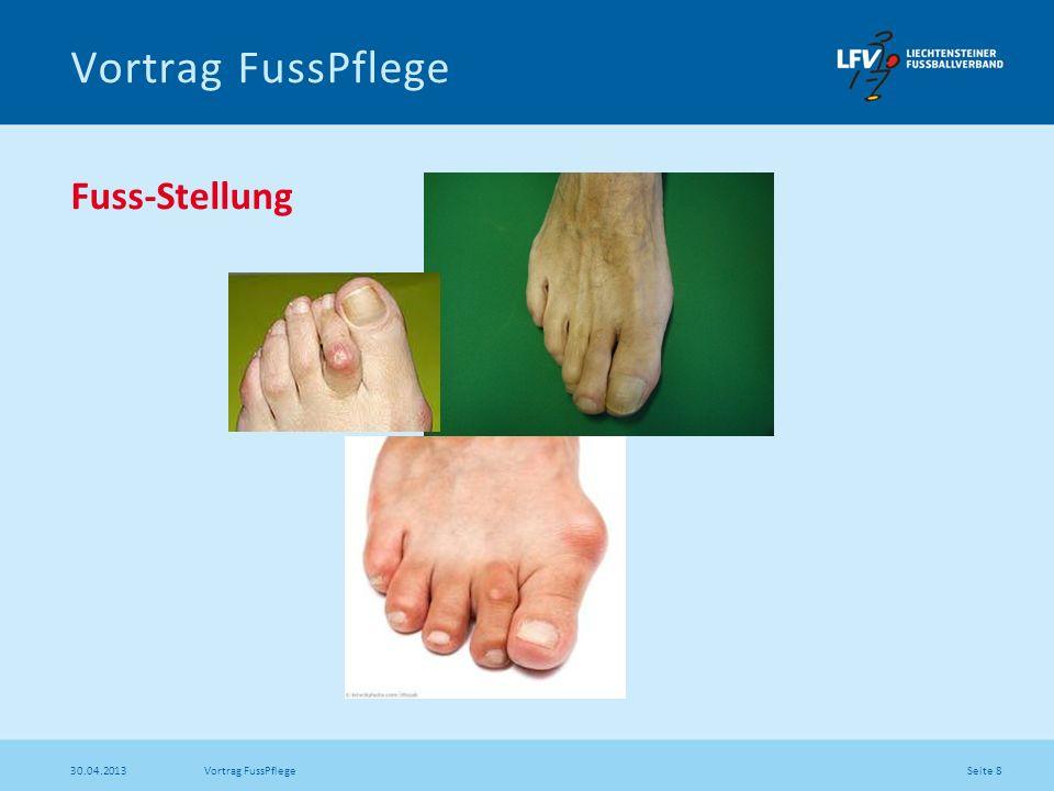 Vortrag FussPflege Fuss-Stellung