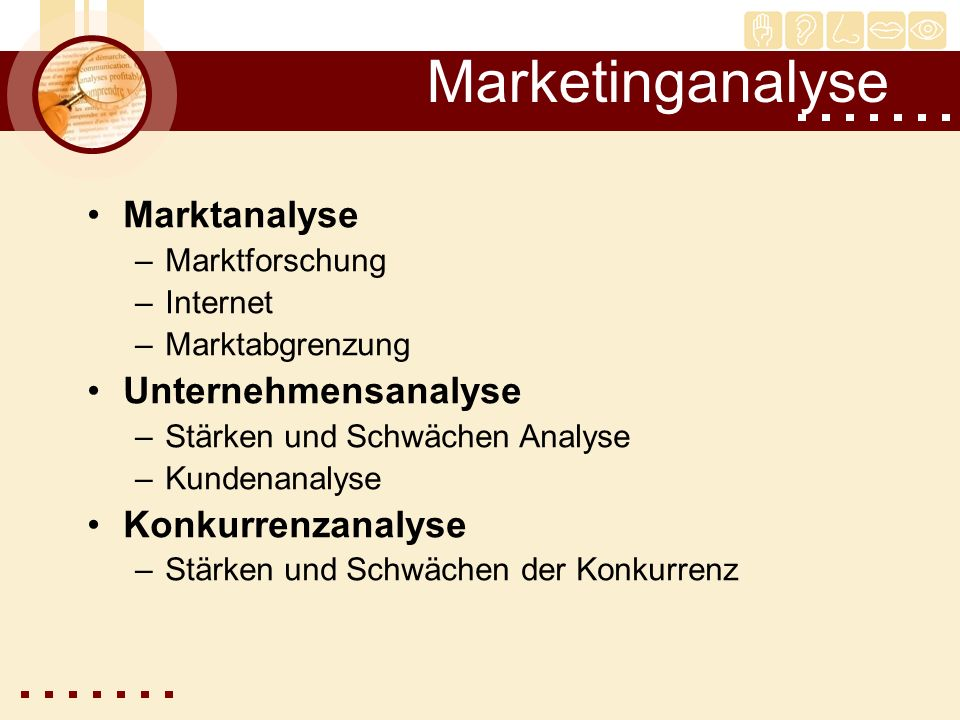 Marketinganalyse Marktanalyse Unternehmensanalyse Konkurrenzanalyse
