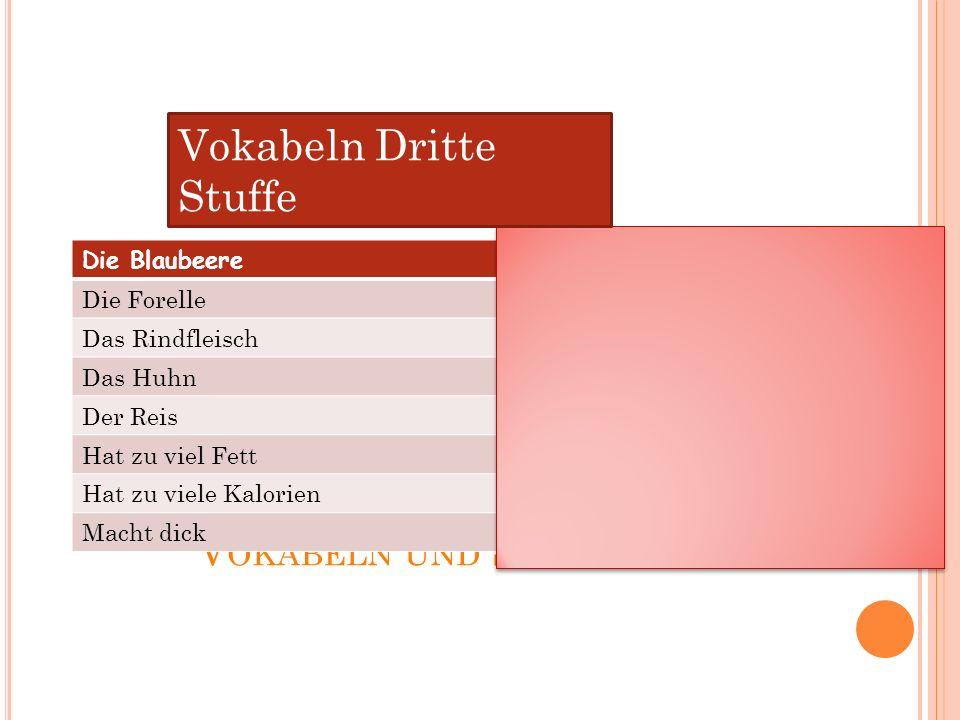 Vokabeln Dritte Stuffe