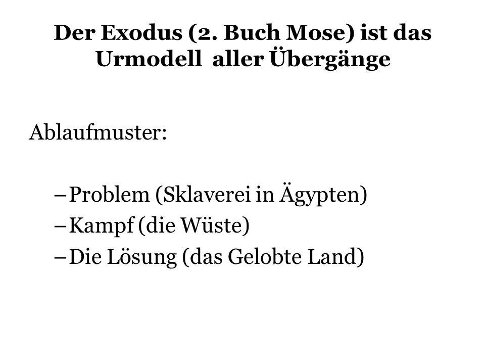 Der Exodus (2. Buch Mose) ist das Urmodell aller Übergänge