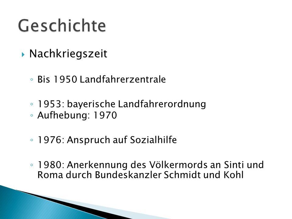 Geschichte Nachkriegszeit Bis 1950 Landfahrerzentrale