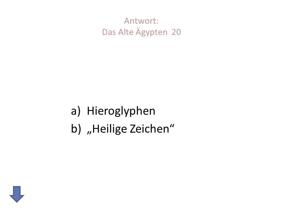 Antwort: Das Alte Ägypten 20