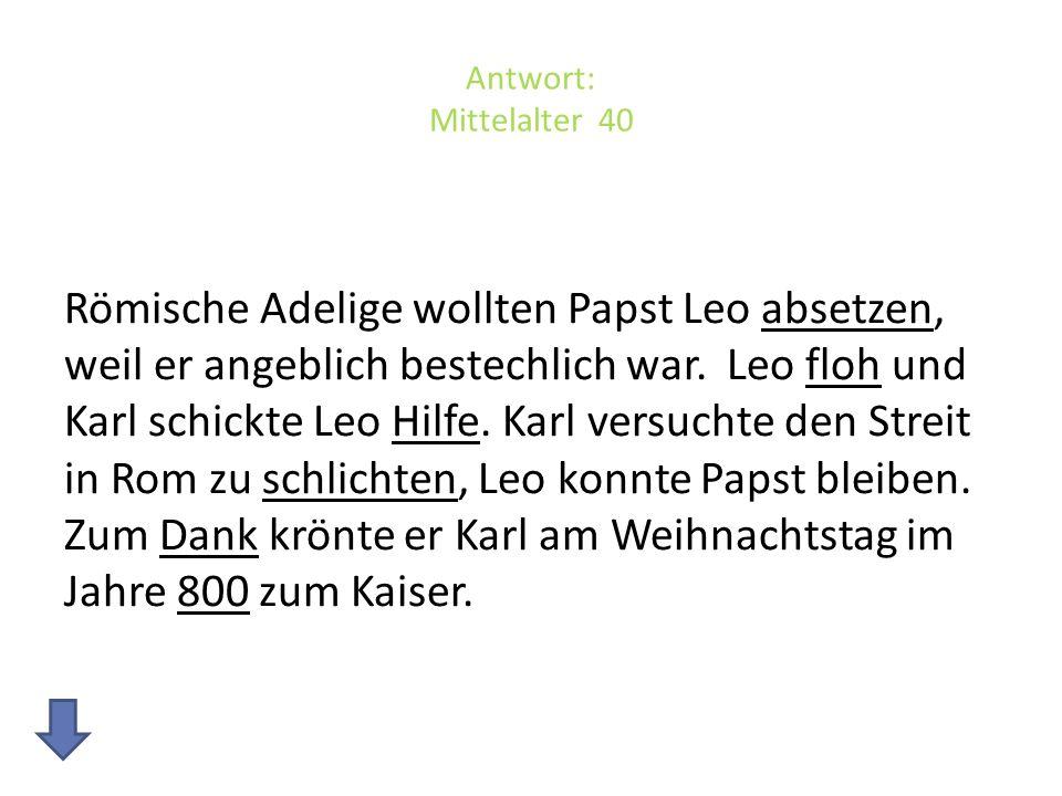 Antwort: Mittelalter 40