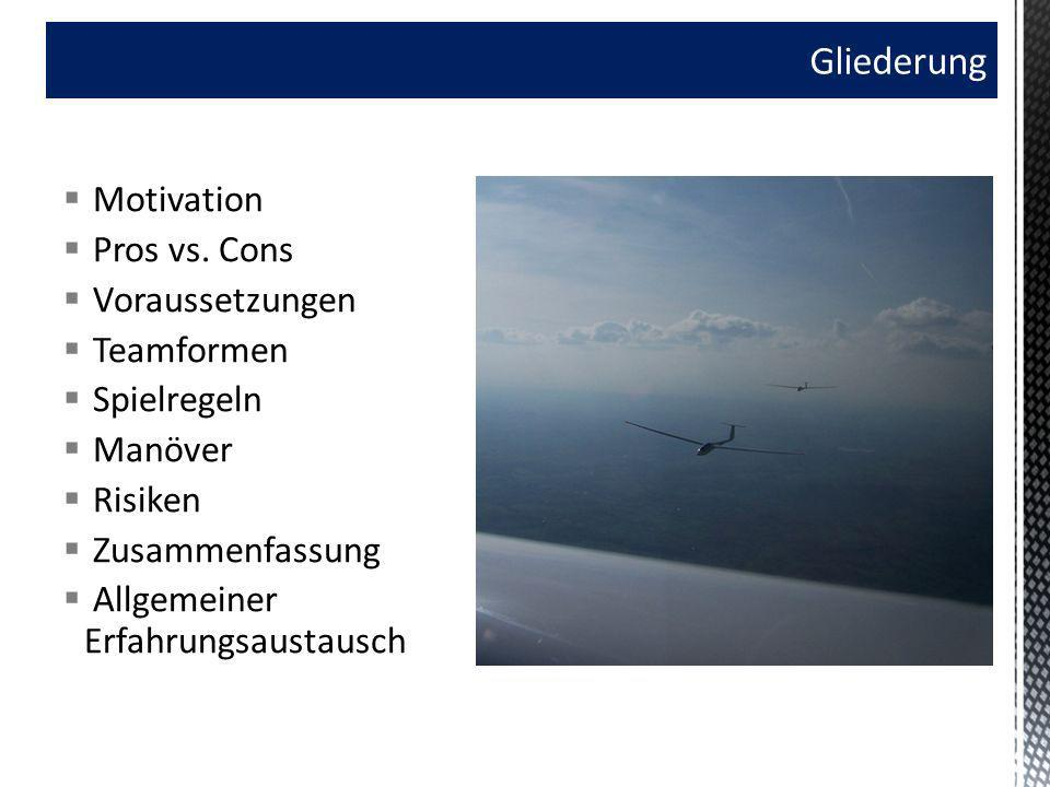 Gliederung Motivation Pros vs. Cons Voraussetzungen Teamformen