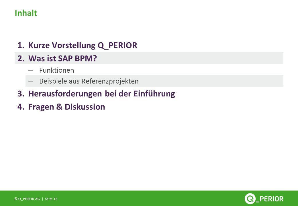Kurze Vorstellung Q_PERIOR Was ist SAP BPM