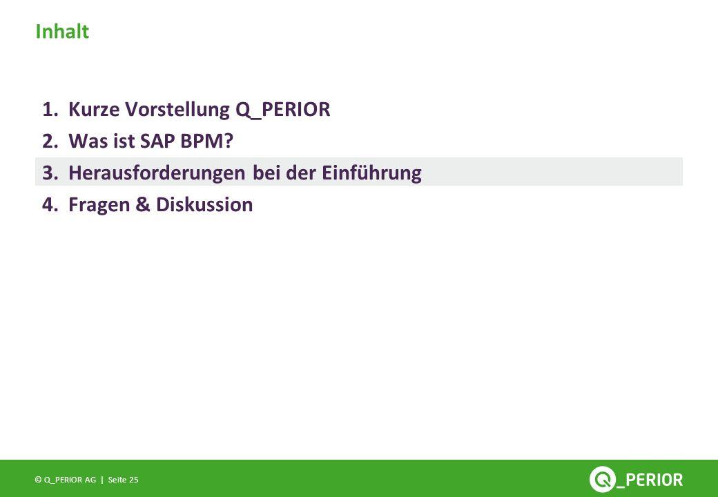 Inhalt Kurze Vorstellung Q_PERIOR. Was ist SAP BPM.