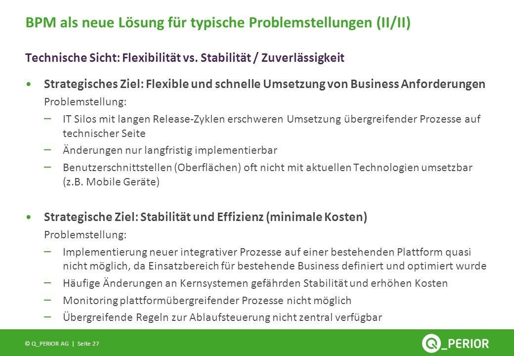 BPM als neue Lösung für typische Problemstellungen (II/II)