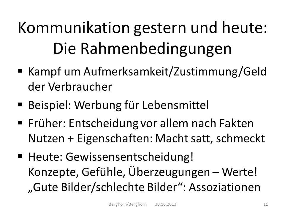 Kommunikation gestern und heute: Die Rahmenbedingungen