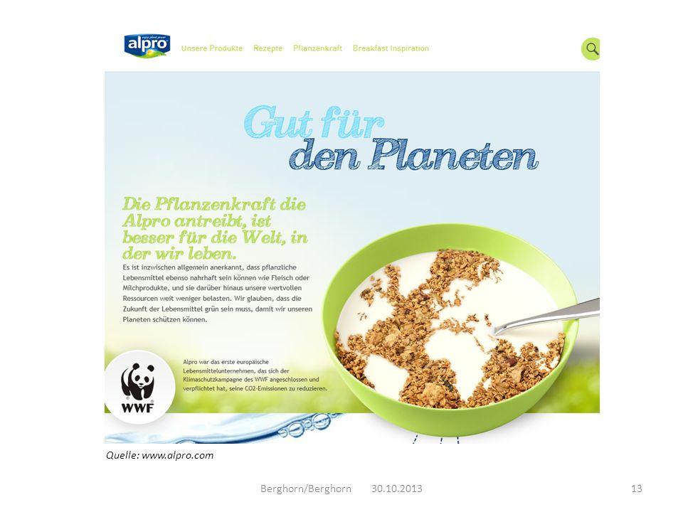 Quelle: www.alpro.com Berghorn/Berghorn 30.10.2013