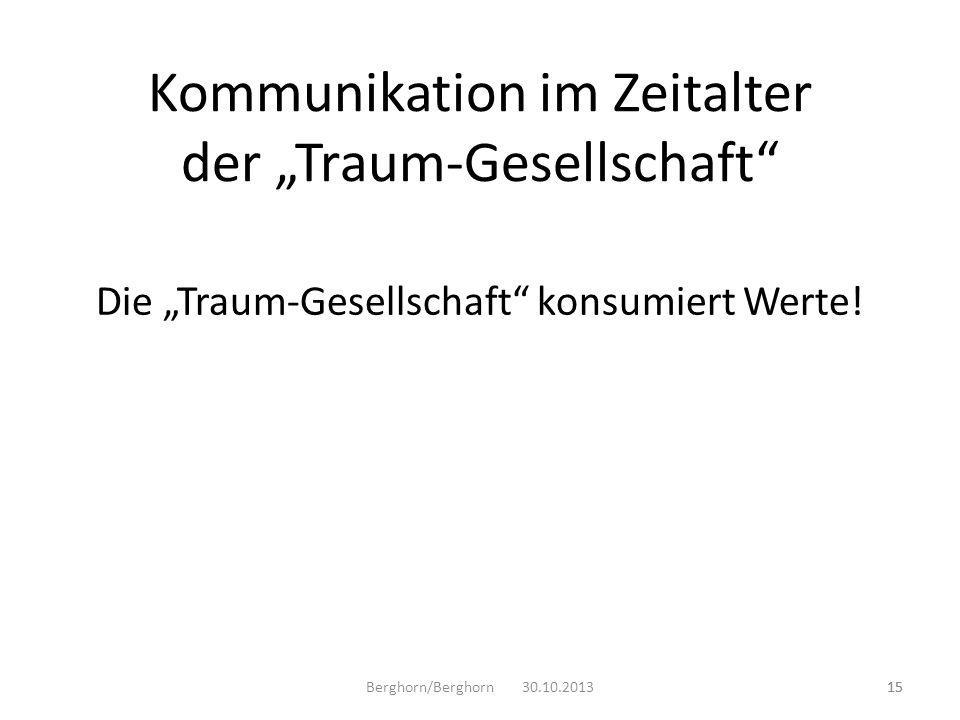 """Kommunikation im Zeitalter der """"Traum-Gesellschaft"""