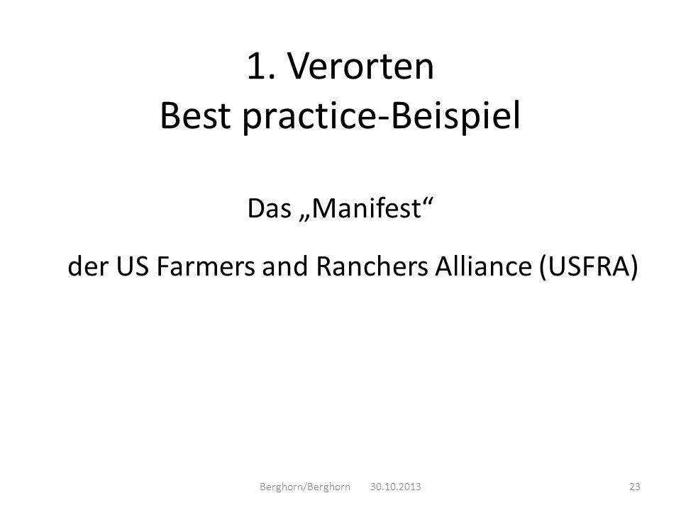 1. Verorten Best practice-Beispiel