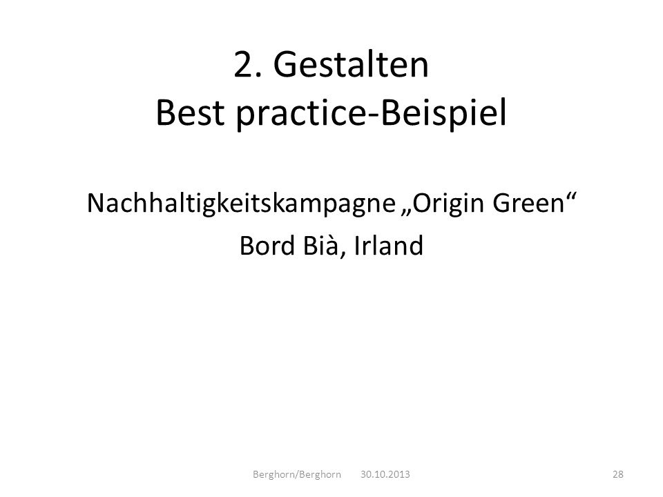 2. Gestalten Best practice-Beispiel