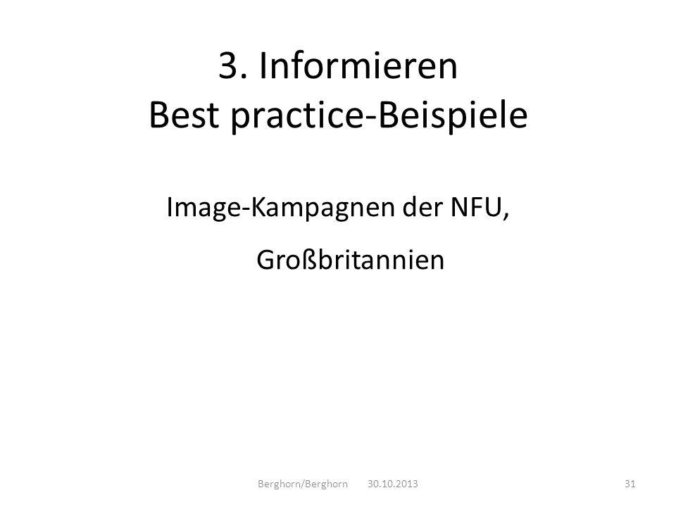 3. Informieren Best practice-Beispiele