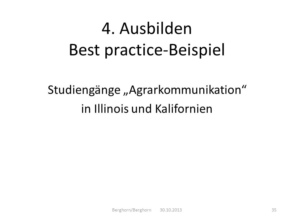 4. Ausbilden Best practice-Beispiel