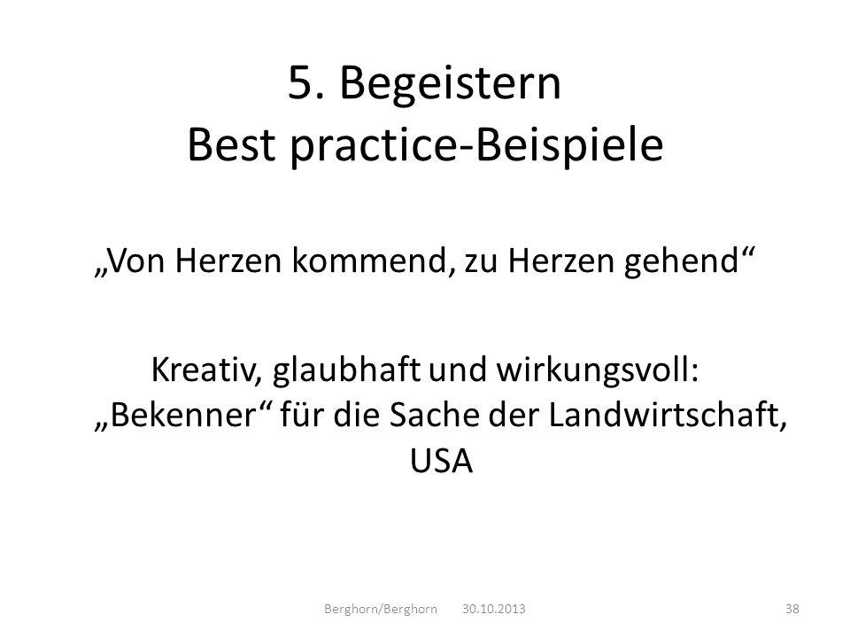 5. Begeistern Best practice-Beispiele