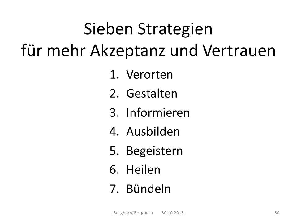Sieben Strategien für mehr Akzeptanz und Vertrauen
