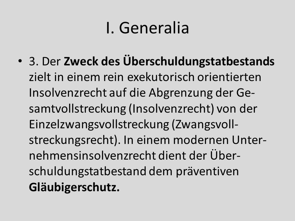 I. Generalia