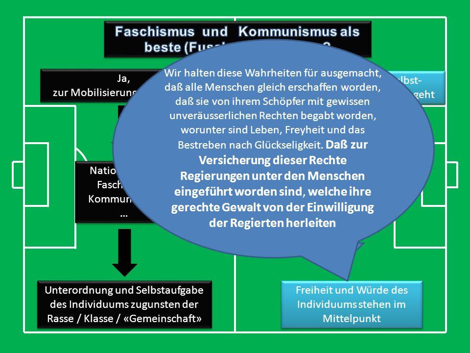Faschismus und Kommunismus als beste (Fussball) Ideologien