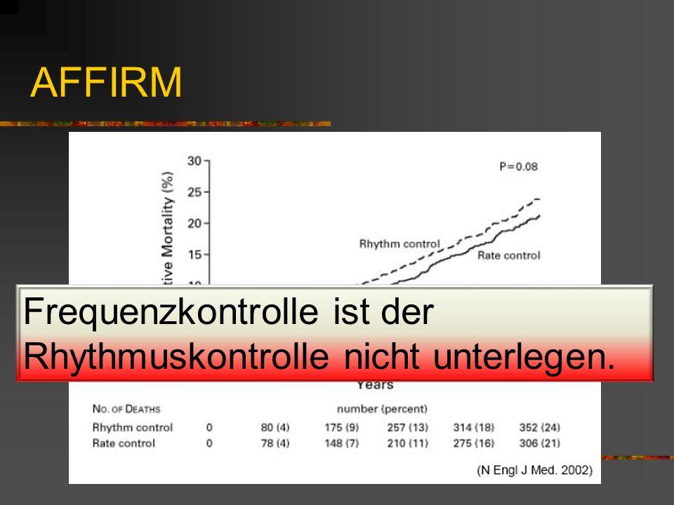 AFFIRM Frequenzkontrolle ist der Rhythmuskontrolle nicht unterlegen.