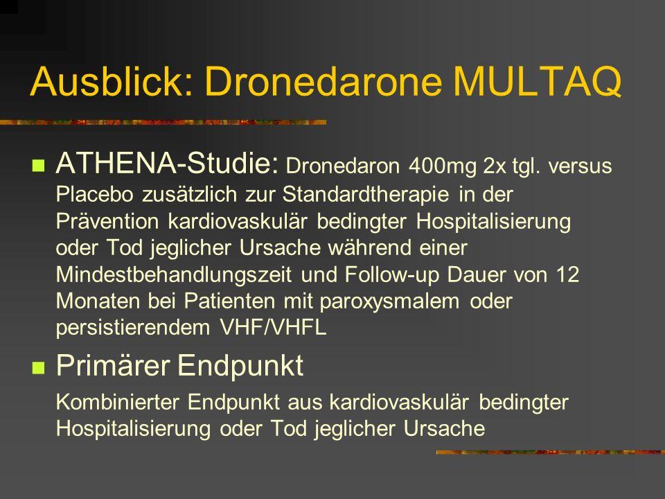 Ausblick: Dronedarone MULTAQ