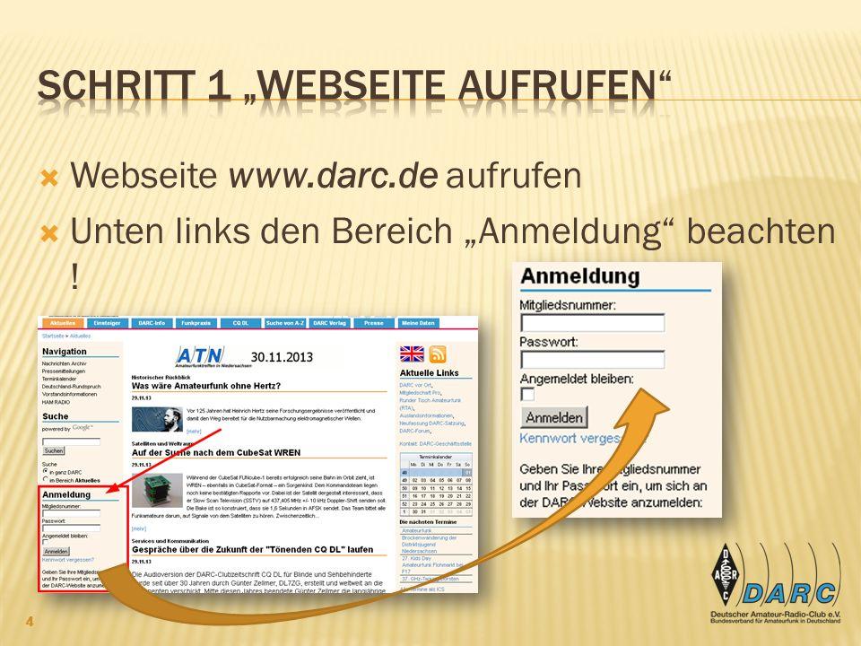 """Schritt 1 """"Webseite aufrufen"""