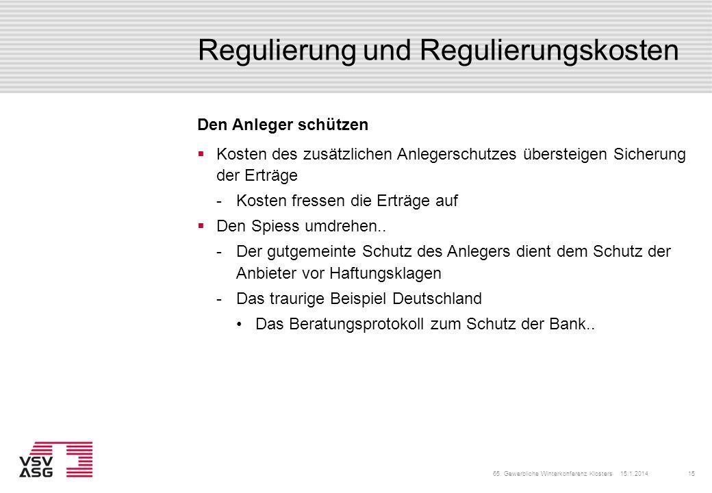 Regulierung und Regulierungskosten