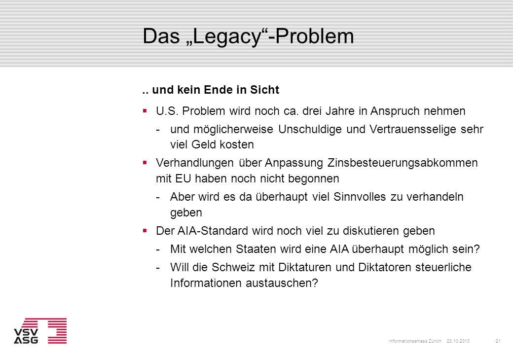 """Das """"Legacy -Problem .. und kein Ende in Sicht"""