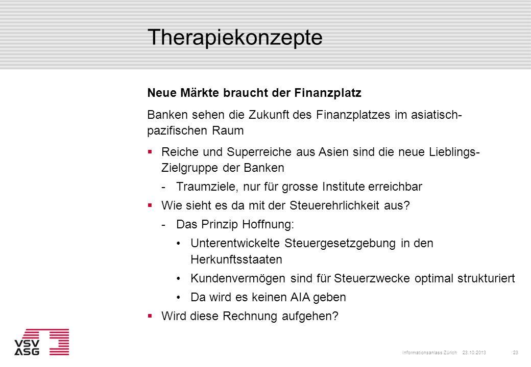 Therapiekonzepte Neue Märkte braucht der Finanzplatz