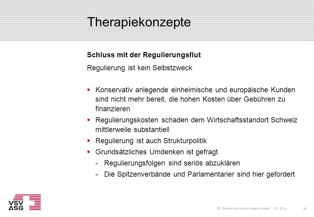 Therapiekonzepte Schluss mit der Regulierungsflut