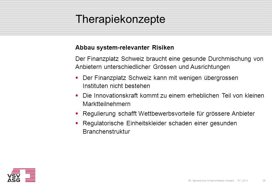 Therapiekonzepte Abbau system-relevanter Risiken