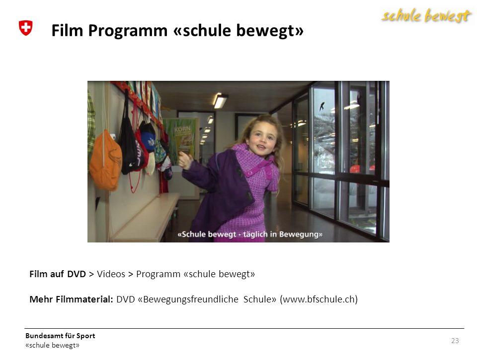 Film Programm «schule bewegt»