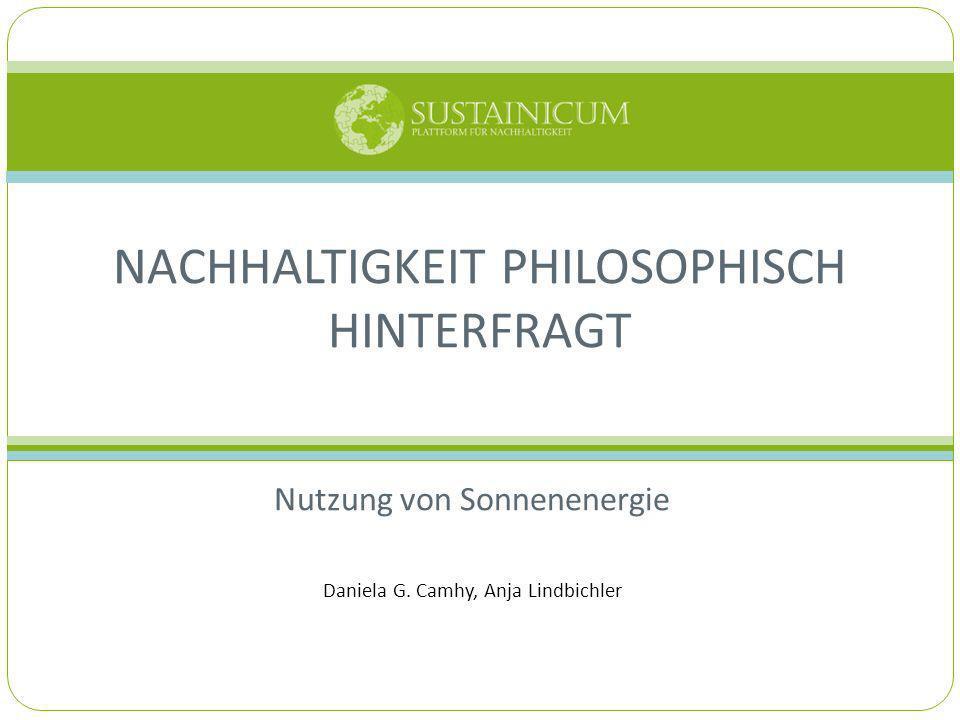 Nachhaltigkeit philosophisch hinterfragt