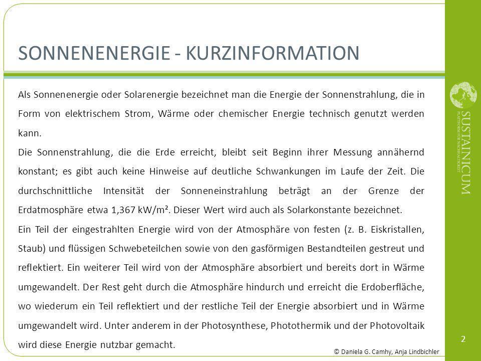 Sonnenenergie - Kurzinformation