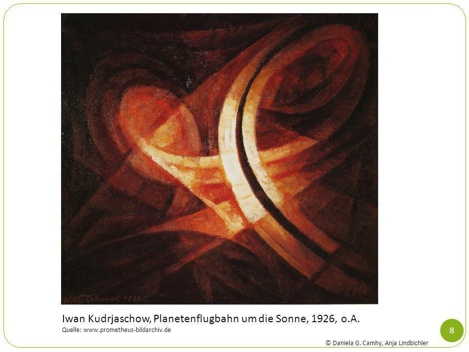 Iwan Kudrjaschow, Planetenflugbahn um die Sonne, 1926, o.A.