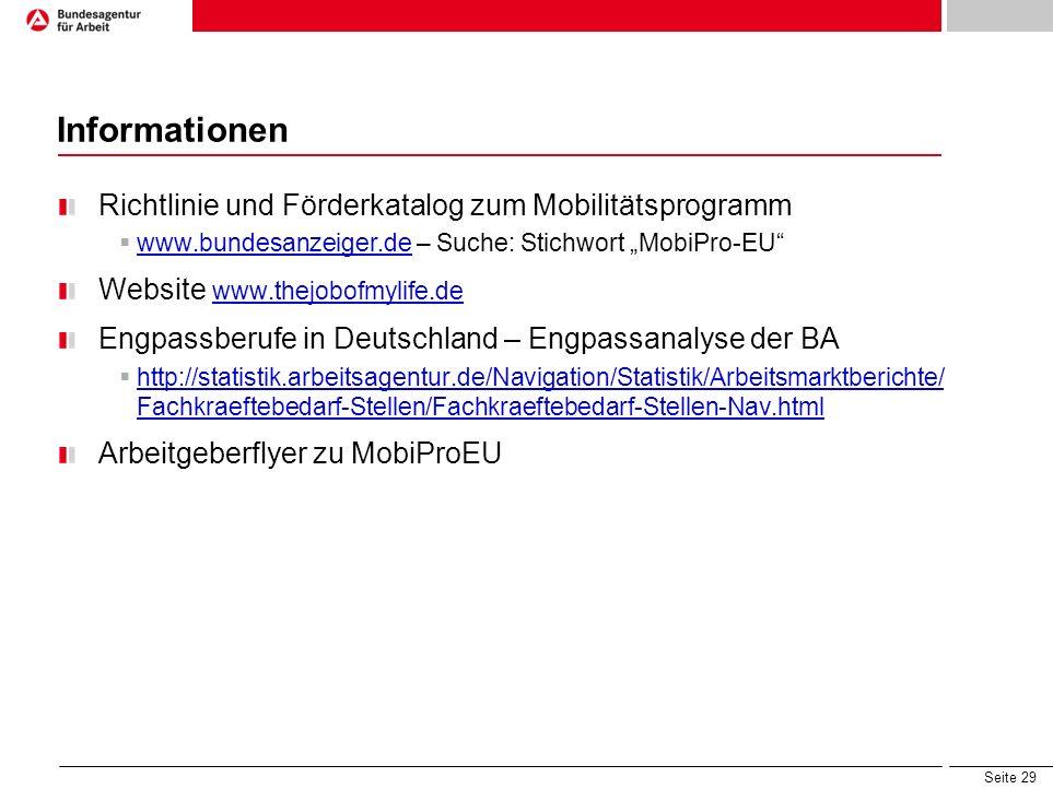 Informationen Richtlinie und Förderkatalog zum Mobilitätsprogramm
