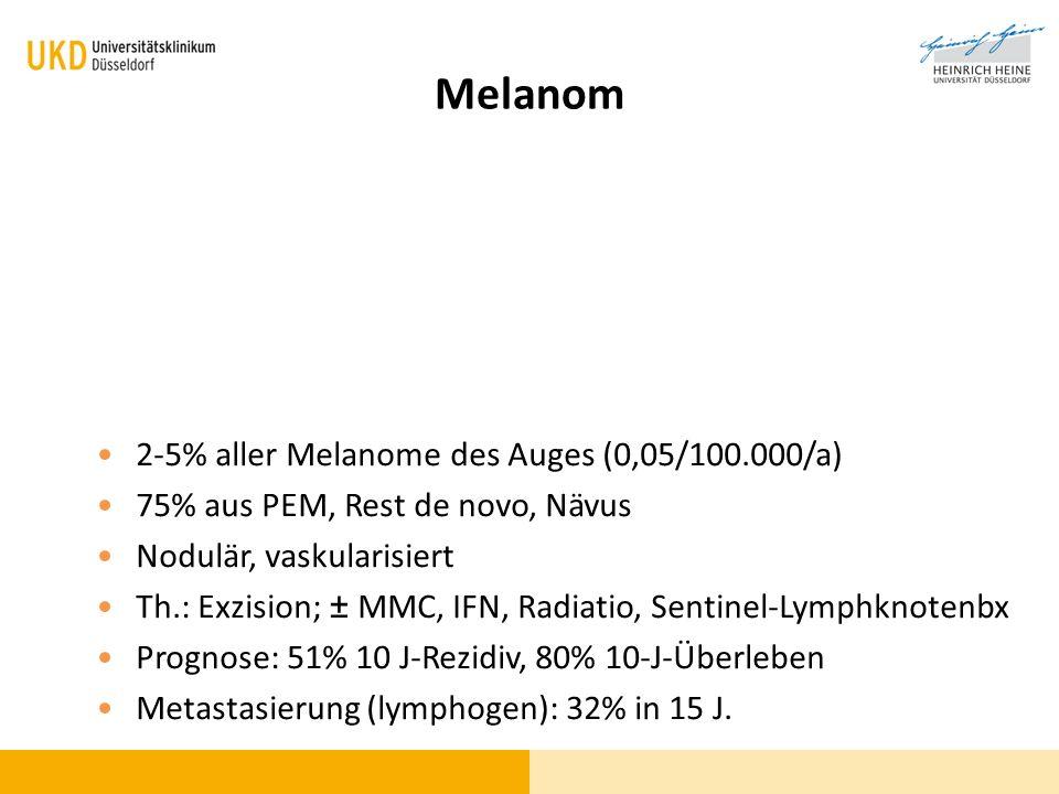 Melanom 2-5% aller Melanome des Auges (0,05/100.000/a)