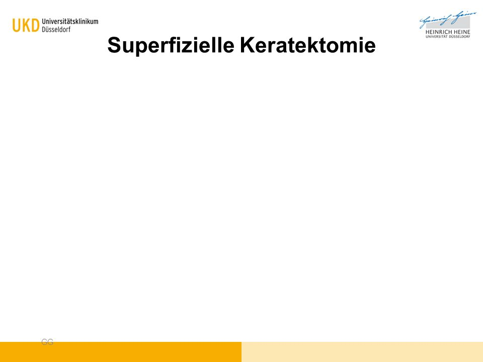 Superfizielle Keratektomie