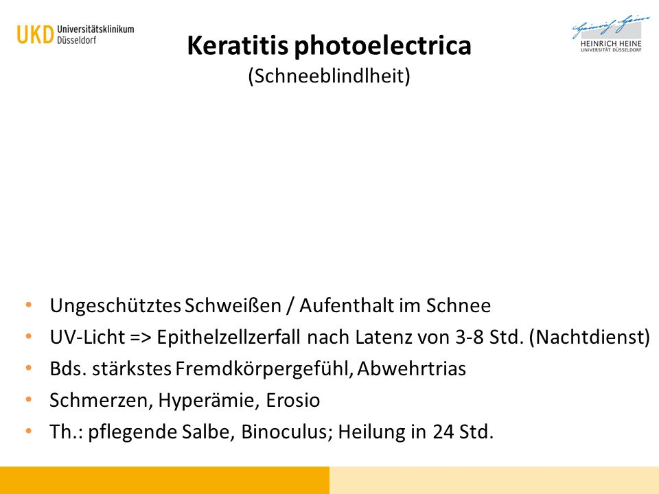 Keratitis photoelectrica (Schneeblindlheit)