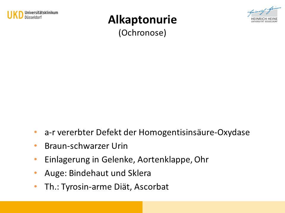 Alkaptonurie (Ochronose)