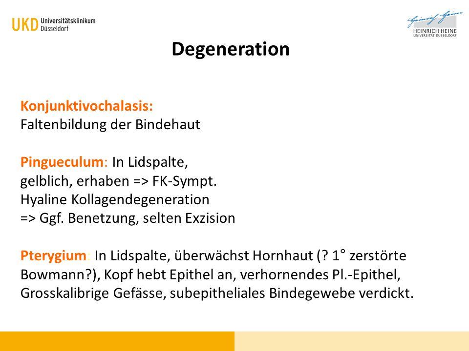 Degeneration Konjunktivochalasis: Faltenbildung der Bindehaut