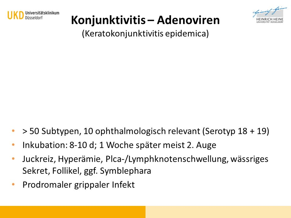 Konjunktivitis – Adenoviren (Keratokonjunktivitis epidemica)