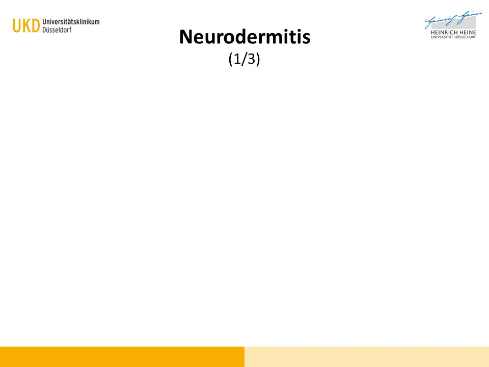 Blickdiagnose (1/3) Neurodermitis